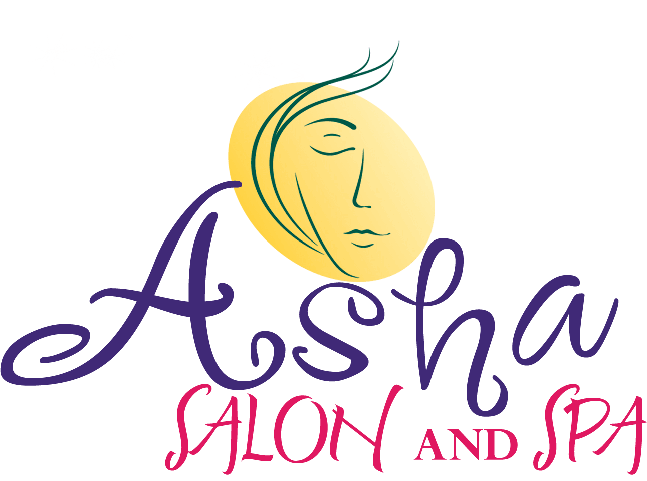 Asha Salon & Spa Logo Light